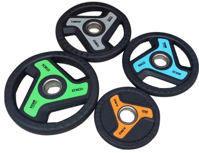VIVA Fitness TPR Solid Olympic Plates